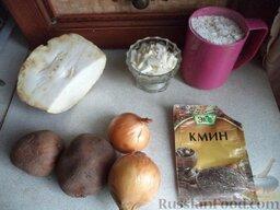 Суп из сельдерея: Продукты по рецепту супа из сельдерея перед вами.  Вскипятить чайник.